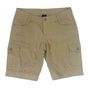 KUHL Tan Cargo Hiking Shorts Size 6